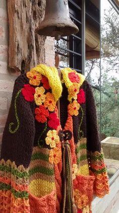 Crochet Coat, Crochet Jacket, Knitted Coat, Knitted Throws, Crochet Cardigan, Love Crochet, Crochet Shawl, Crochet Clothes, Knitting Patterns