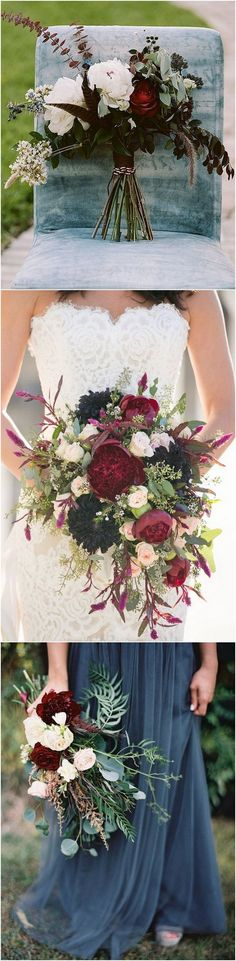 fall color hues wedding bouquet ideas_2