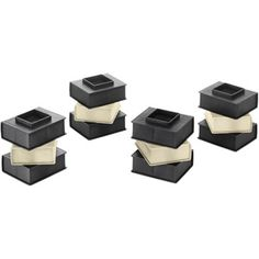 Whitmor Book Bed Risers, Black, Set of 12