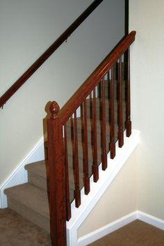 basement stair railing on pinterest stair railing basement stairs