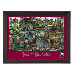 'Carbondale, IL' by Brian McKelvey Frame Poster Painting Print