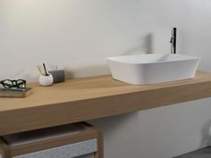 encimera de lavabo de madera love shelf coleccin love by ext diseo studio