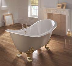 Imperial Sheraton Slipper Bath With Cast Iron Lion Feet Bathroom Design Inspiration, Bad Inspiration, Bathroom Interior Design, Imperial Bathrooms, Bathroom Store, Cast Iron Bath, Steel Bath, Bath Screens, Corner Bath
