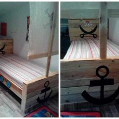 I made a Pallet Half-Moon Cradle from pictures I found on It has an MDF frame and soft lighting inside. Pallet Bed Frames, Diy Pallet Bed, Pallet Patio Furniture, 1001 Pallets, Recycled Pallets, Bed Frame And Headboard, Headboards For Beds, Moon Crib, How To Make Bed