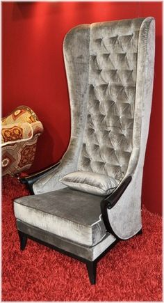 High Back Winged Chair With Velvet Like Upholstery. Product: Chair  Construction Material: Birch Wood, Plywood And Cotton Color: Beige U2026 |  Pinteresu2026