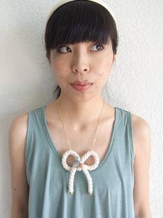 Pretzel Bow Necklace