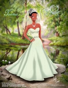 (246) Tiana [2015] (Fairy Tale Wedding by AN-ChristianComics @deviantART) #ThePrincessAndTheFrog