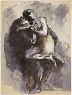 Auguste Rodin, Vase Clodion (Lovers) | Harvard Art Museums/Fogg Museum