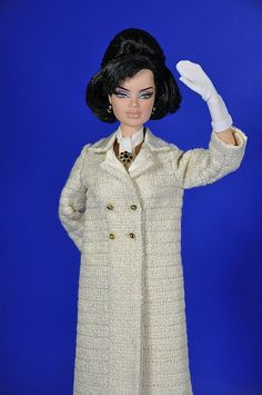 50-3. Jackie Kennedy ivory coat for Silkstone and FR dolls