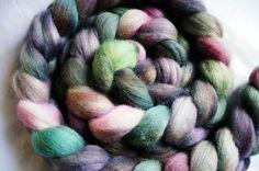 hand-dyed merino roving 4 oz.  FRANKIE by oceanwindknits on Etsy