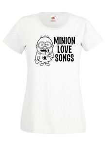 £9.99 #Minion Love Songs #Despicable Me Ladies #Tshirt - Worldwide Delivery