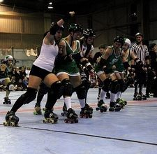 While it's easy to learn proper skating techniques, blocks, falls, and recoveries, learning to become more aggressive can be a challenge. Derby Skates, Quad Skates, Roller Derby Drills, Derby Time, Track Roller, Roller Skating, How To Become, Workout, Fresh Meat