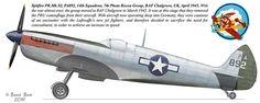 Spitfire PR.Mk.XI, PA892, 14th Squadron, 7th Photo Recon Group, RAF Chalgrove, UK, April 1945.