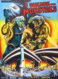 War of the Gargantuas. French movie poster.