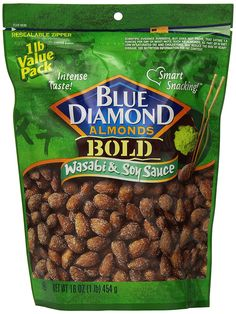 Blue Diamond Almonds  Bold  Wasabi and Soy Sauce, Value Pack, 16-Ounce (Pack of 3) ** Additional details at the pin image, click it @ : Fresh Groceries