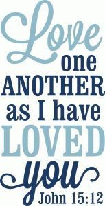 Silhouette Design Store - View Design #77705: love one another as i have loved you