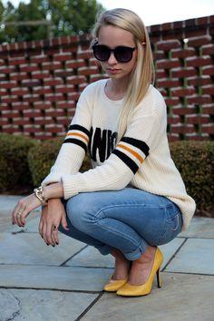 Varsity + Mustard | Fall Fashion