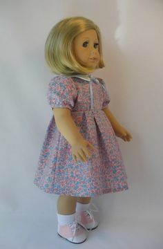 1934-104 Pink and Blue 1930s Era Dress for 18 Inch by terristouch