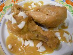 Cocina por afición: Jamoncitos de pollo en salsa de piñones