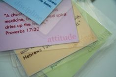 Character Trait Scripture Memory cards