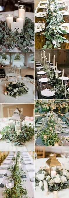 greenery wedding centerpieces for 2018 trends #weddingtrends #weddingideas #weddingdecor #weddingcenterpiece #greenerywedding