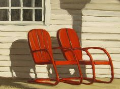 Reminds me of my grandparents porch. Ron Donoughe: Plein Air Painter