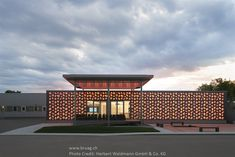 Bruag presents individual facade systems made from CELLON which can be perforated with custom designs. Villa Design, Facade Design, Architecture Design, Metal Cladding, Brickwork, House Layouts, Commercial Design, Planer, Custom Design