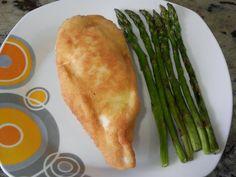San Jacobos de pechuga de pollo Relleno, Asparagus, Vegetables, Food, Chicken Recipes, Olives, Light Recipes, Breast, Turkey Bird