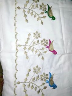 Embroidery Suits Punjabi, Hand Embroidery Dress, Basic Embroidery Stitches, Cutwork Embroidery, Embroidery Suits Design, Embroidery Fashion, Hand Embroidery Designs, Patiala Suit Designs, Latest Salwar Suit Designs