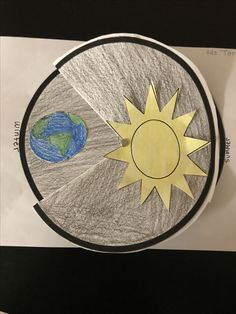 Reason for seasons. Earth's tilt. Science craft.