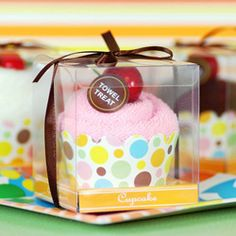 cupcake towel favors..