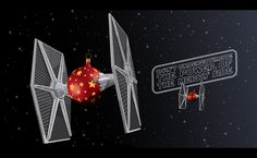 New STAR WARS Christmas Card Features Tie Fighter Ornament Balls - News - GeekTyrant