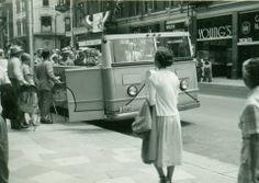 Tour Bus on King Street, Kitchener. Gone Days, July 1, Cambridge, Ontario, Photo Galleries, Nostalgia, Canada, Tours, King