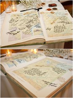 travel theme guest book map