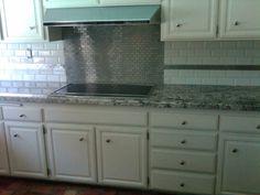 Kitchen Backsplash Behind Stove the tile shop: glass backsplash with stainless steel behind the