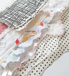 embroidered pages