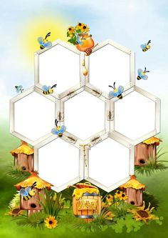 Page Borders Design, Border Design, Boarders And Frames, School Frame, Kids Background, Bee Art, Borders For Paper, Bee Theme, School Decorations