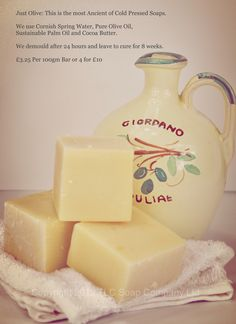 Pure Olive Soap, Handmade by The Little Cornish Soap Company at www.tlcsoapcompany.co.uk