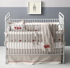 Embroidered London Landmark & European Vintage Washed Percale Nursery Bedding Collection | Nursery Bedding Collections | Restoration Hardware Baby & Child