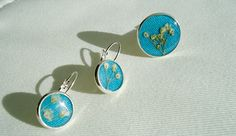 Ring and Earrings in blue from Gypsophila by catarinagdesigns, €28.00