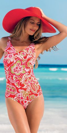 b39ddf054b #Anita 2014 #Mastectomy Caribbean Flower Hamina #OnePiece #Swimsuit Skirted  Swimsuits, Beach