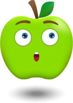 View album on Yandex. Cartoon Drawings, Easy Drawings, Colorful Pictures, Cute Pictures, Apple Clip Art, Apple My, Cute Fruit, Cute Monkey, Arctic Animals