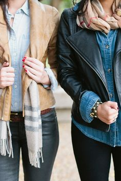 chambray+leather