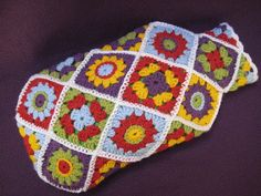 Ravelry: Hot Water Bottle Cover Diagonal Granny Square pattern by Millionbells Granny Square Crochet Pattern, Crochet Squares, Double Crochet, Single Crochet, Crochet Patterns, Granny Squares, Crochet Granny, Crochet Ideas, Freeform Crochet
