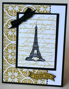 Handmade Paris Inspired Thank You Card by MakingLifeCreative, $3.50 #TEAMDREAM