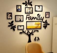 UK Oversize Acrylic Family Tree Frame Photo Picture Collage Wall Christmas Home Décor UK Frame Wall Collage, Collage Picture Frames, Frames On Wall, Framed Wall Art, 3d Wall, Collage Pictures, Family Tree Photo, Family Tree Frame, Family Photo Frames