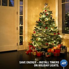 Don't pull a Griswold and keep the neighbors up all night with your holiday lights - set a timer and save on your energy bill. #HappyHolidays #StaySafe #HolidaySafety #ADT #AlwaysThere