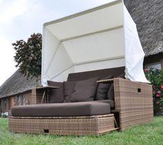 Sonneninsel Beach Lounge Garten Liegeinsel Coffe-mix