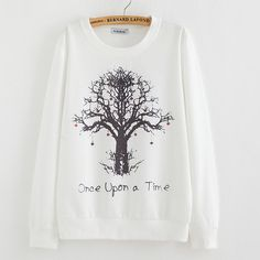 New spring Hoody women Casual hoodies Strawberry tree print fleece inside long sleeve o neck letters sweatshirt for women WOW Visit our store