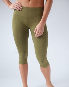 Designed with seamless technology for any performance or just everyday wear by incorporating chafe-free venting zones and seat wicking fabric. These hi-waisted capris are made with fabric that is sturdy and strong as well as light and soft.